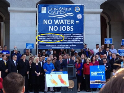 CCGGA Participates In and Supports Huge Water Rally