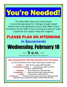 Sacramento SWRCB WATER MEETING 2-18-15 NEEDS YOU