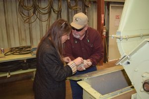 Pictured here, Kristina Dunklin discussing the FSMA Rule with Wayne Gilbert.
